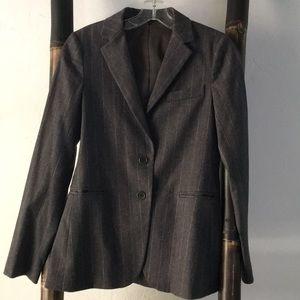 Gorgeous grey pinstriped wool Theory jacket.